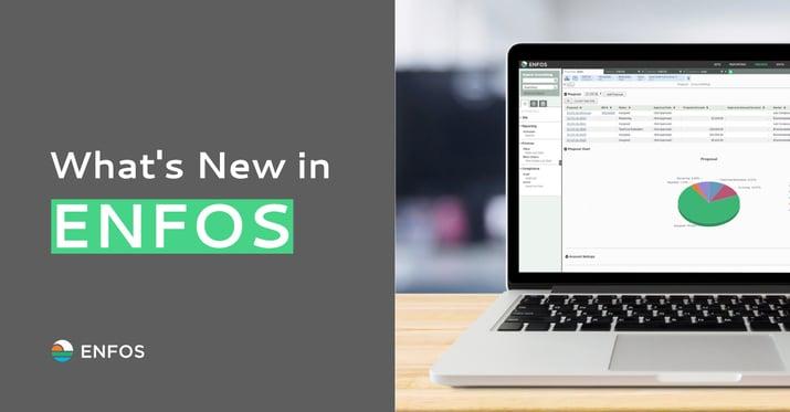 ENFOS new features 2020 summer