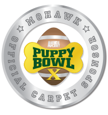 Mohawk is the official carpet sponsor of Puppy Bowl X!