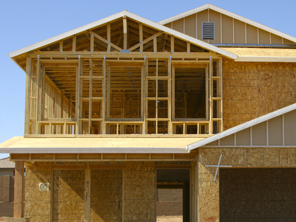 How does a new construction home affect the title search for Homeowners insurance for new construction