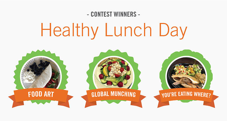 Congratulations to Our Healthy Lunch Day Contest Winners!
