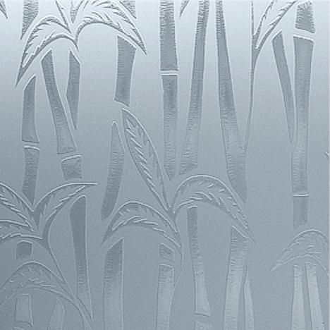 Satin Etch Bamboo Glass
