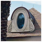 Architectural Oval Specialty Fixed Window with Custom Grilles