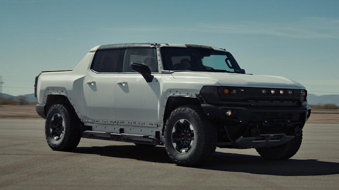 """See The 2022 HUMMER EV """"Watts To Freedom"""" Launch Mode In Action"""