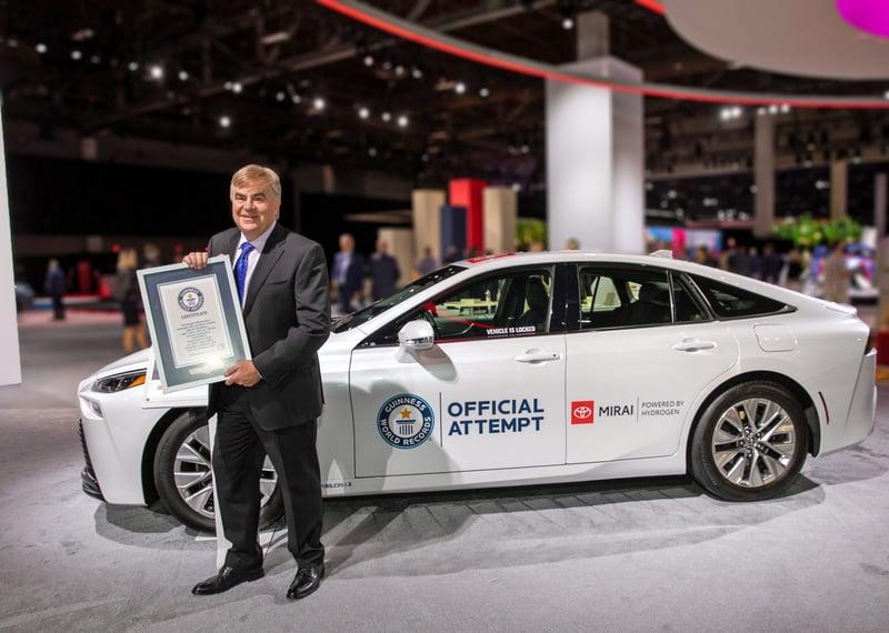 Toyota Mirai Hydrogen Fuel Cell Sets Guinness World Record