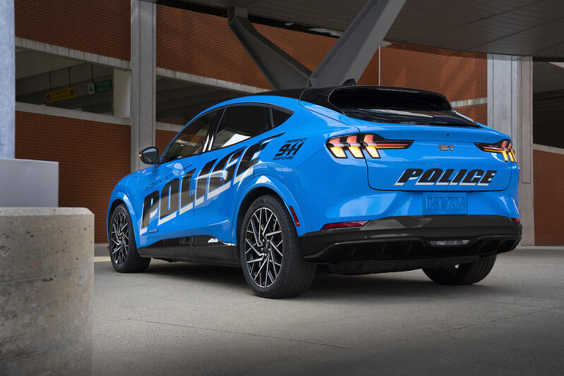 Electric Mustang Mach-E Will Be A Police Cruiser