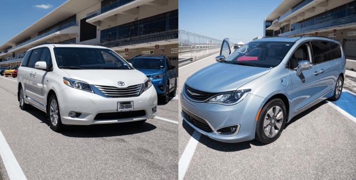 Minivans: Toyota Sienna vs Chrysler Pacifica Hybrid