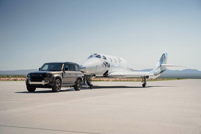Land Rover Supports Successful Virgin Galactic Space Flight
