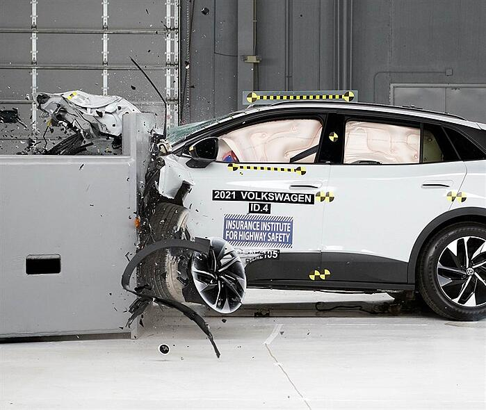 Electric Volkswagen ID.4 SUV Wins Top Safety Award