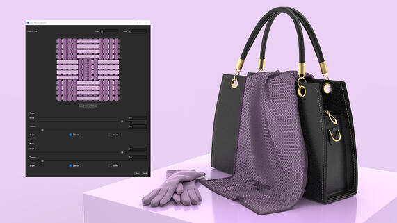 How to Create Custom Weave Patterns with KeyShot RealCloth