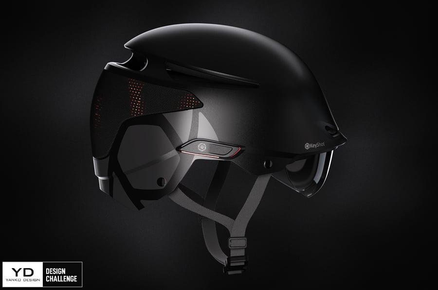 KeyShot Envoy Helmet Yanko Design Challenge