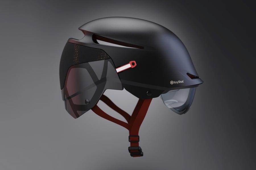 Envoy Helmet KeyShot Re-Design by Jonathan Hatch
