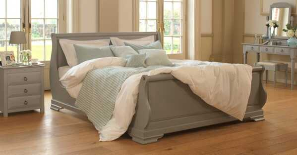 Camargue-Painted-Sleigh-Bed-1