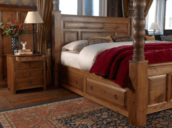 Revival Beds bedside drawers and bed