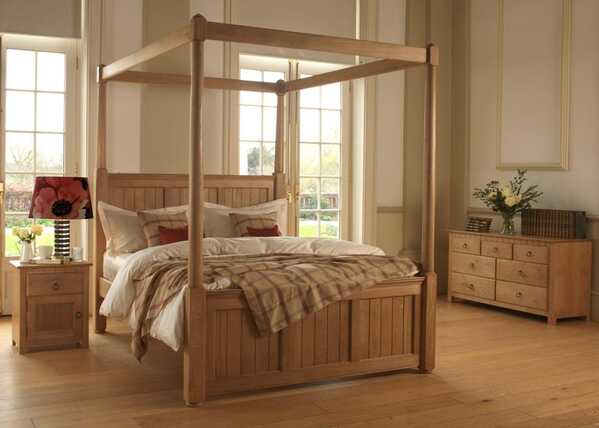 Vermont-New-England-Solid-Oak-Four-Poster-Bed