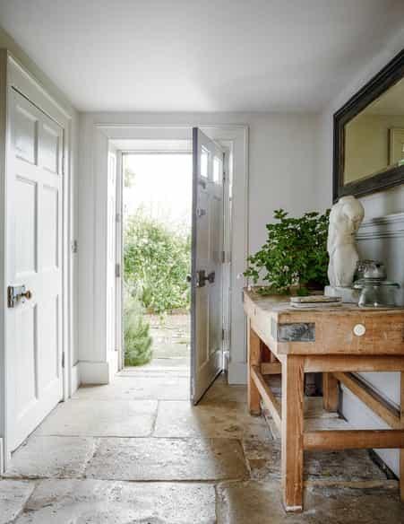 stone floor hallway