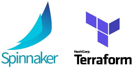 Spinnaker terraform logo combined