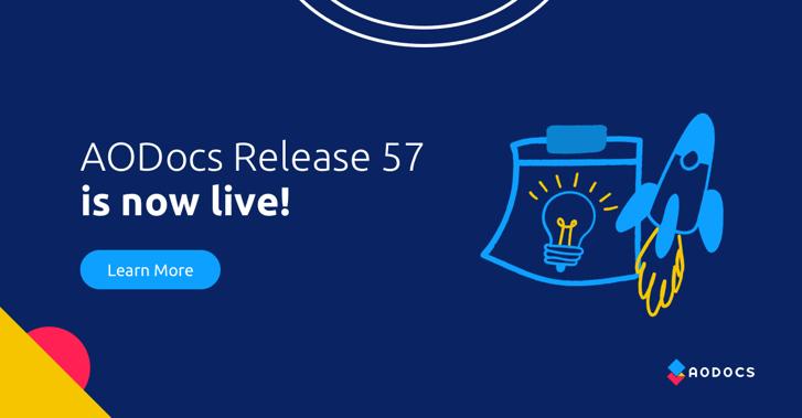 AODocs Announces Launch of Release 57