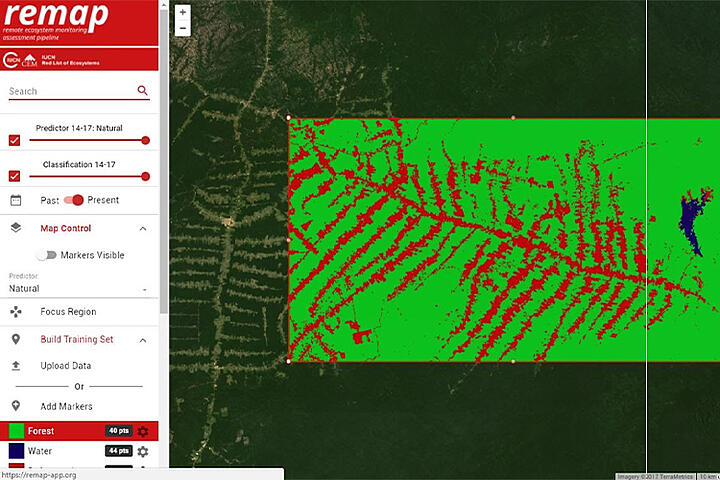 GEO-GEE project: Mapping the status of ecosystems with Remap