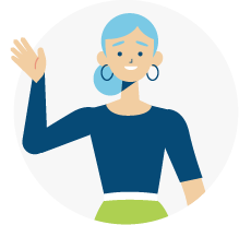 Illustration of a woman waving
