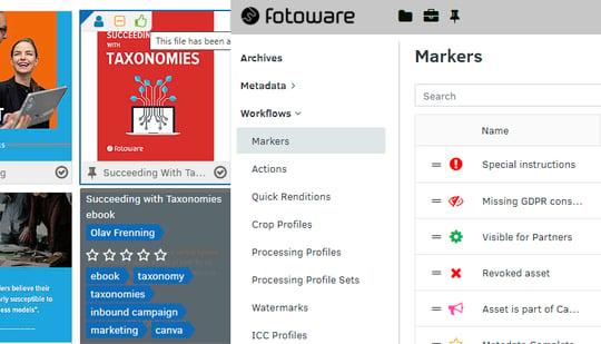 Workflows configuration in FotoWare