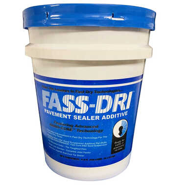 Adding FASS-Dri PSA Sealer Additive to the mix means faster drying even without sunlight