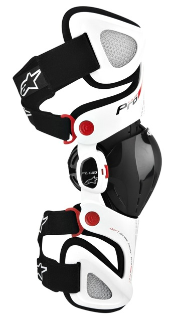 Alpinestars Fluid Pro Motorcycle Knee Brace White