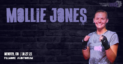 Haymakers for Hope's Mollie Jones shares why she's getting in the ring this October at Denver's Fillmore Auditorium for Rumble in the Rockies III!