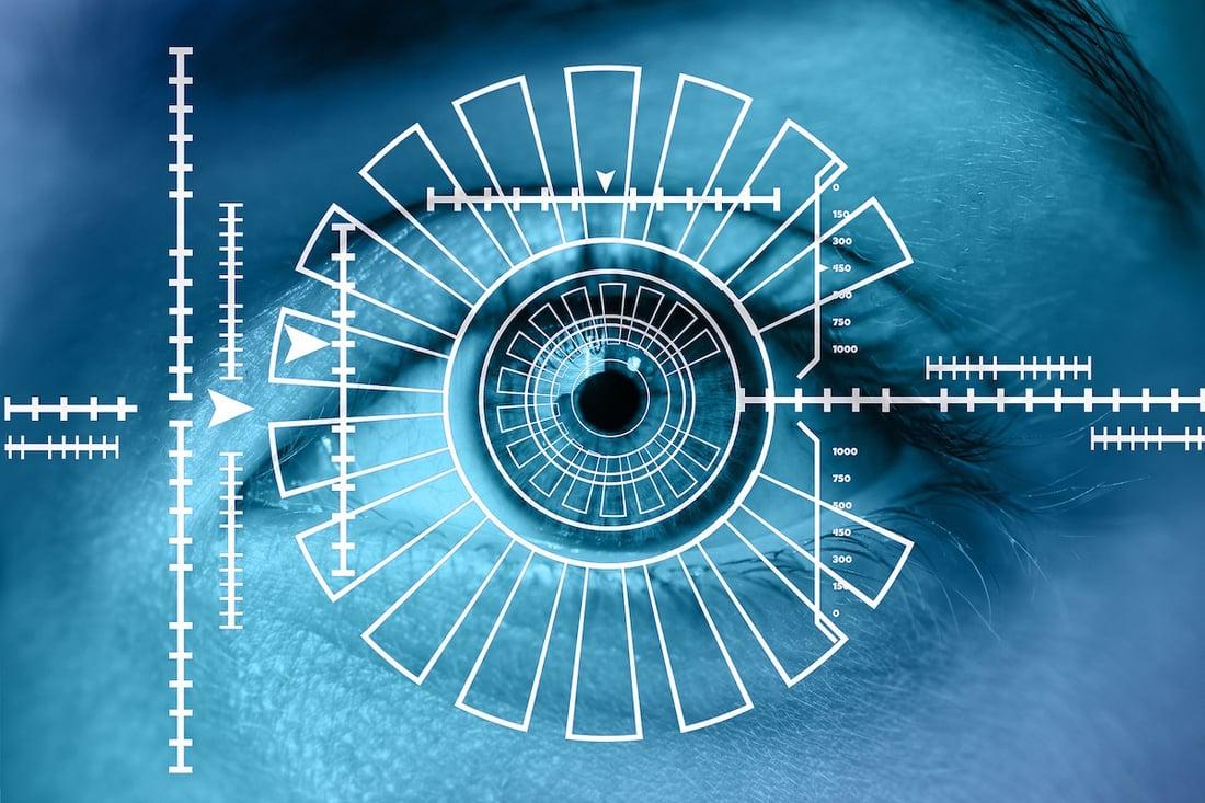 Biometric technology eye scanner