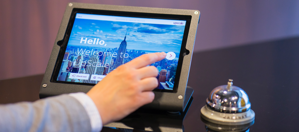 Proxyclick welcome touch screen cloud-based visitor management