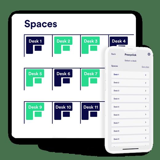 Desk booking spaces