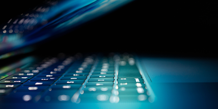 laptop computer keyboard dark