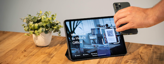 Touchless Check-in Proxyclick QR code