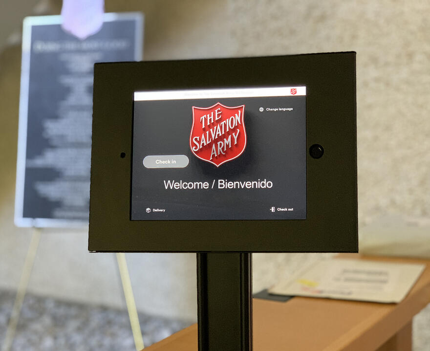 The Salvation Army welcome screen