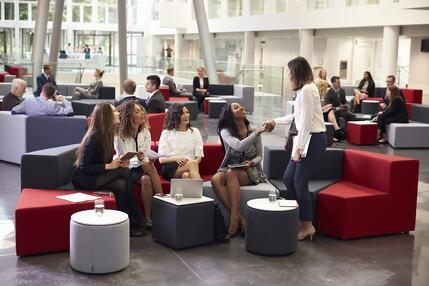 group visit in lobby