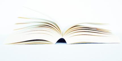 open paper book
