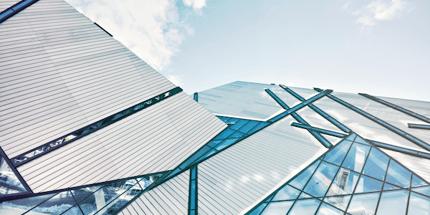 modern skyscraper building windows