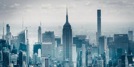 New York City skyline skyscraper buildings