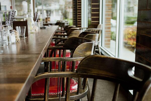 Chairs in the restaurant