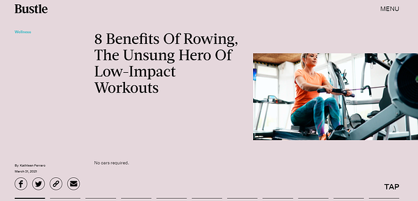 The Unsung Hero Of Low-Impact Workouts