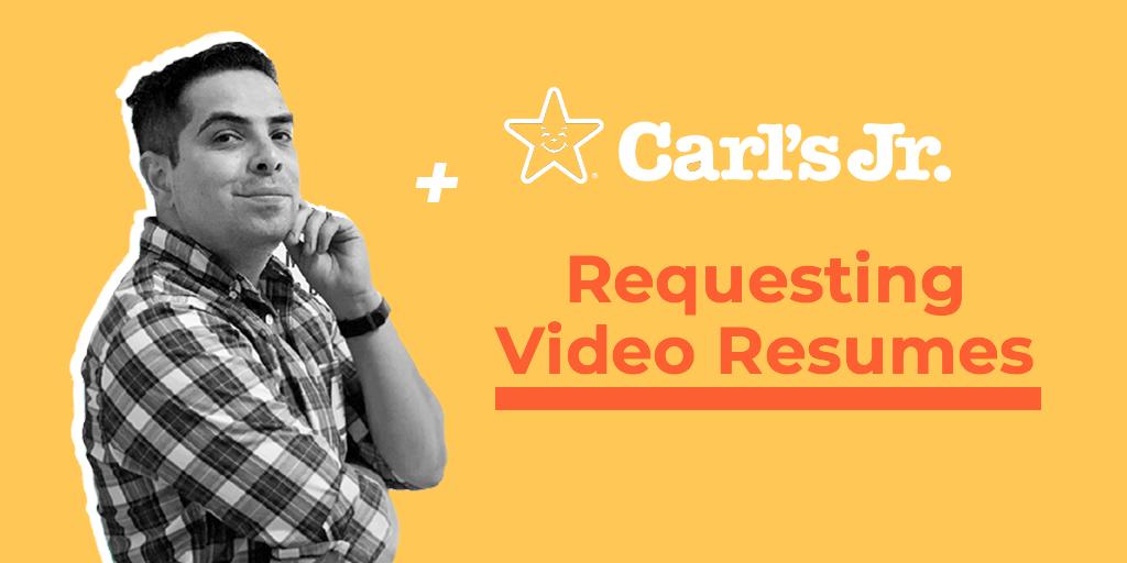 carls jr webinar with video resumes