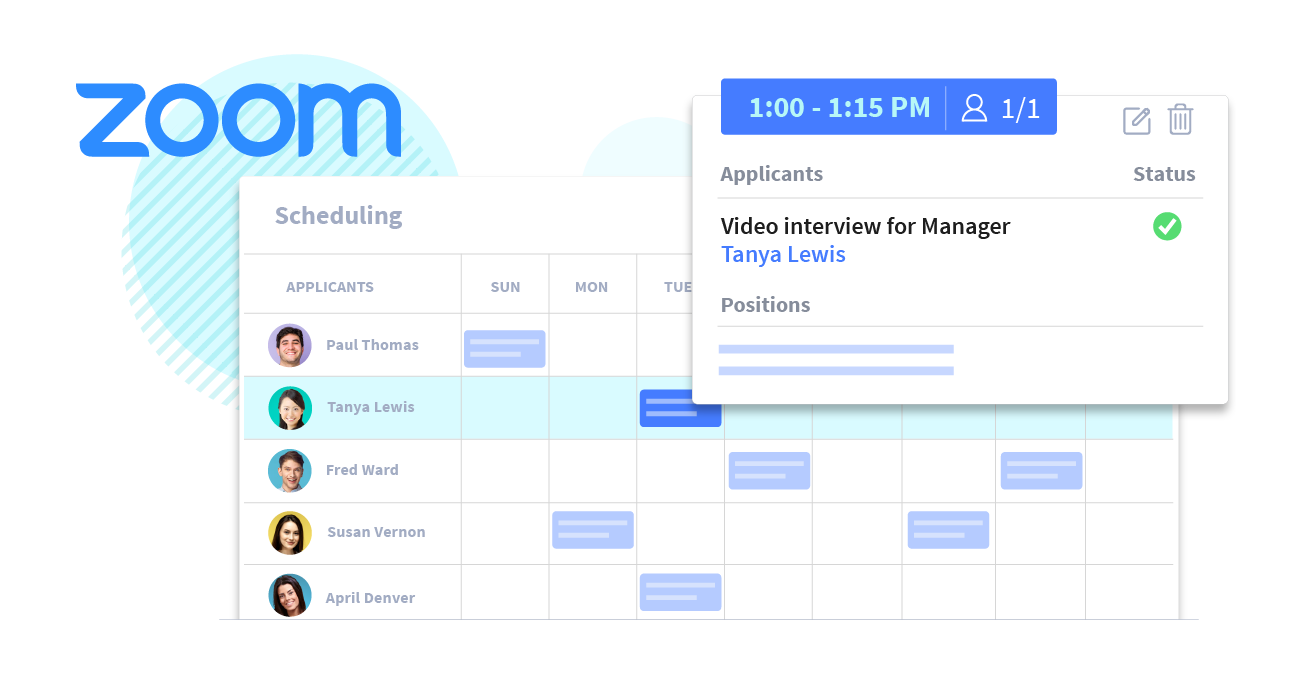 Automated scheduling for job interviews