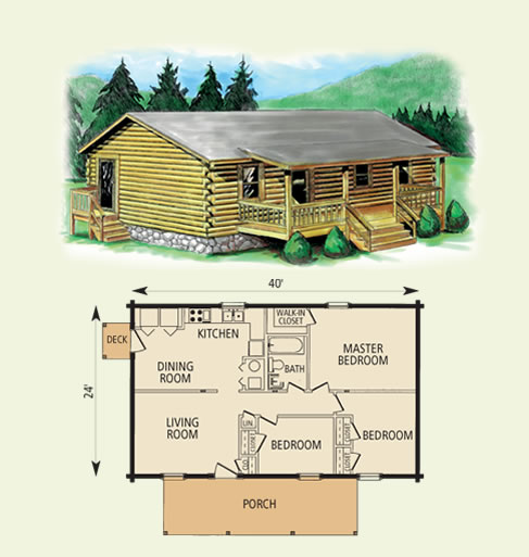 Cimmaron for One story log cabin floor plans
