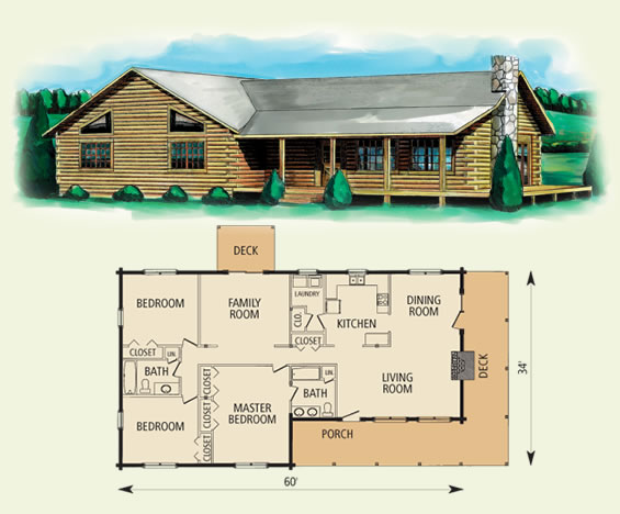 Hampshire for Square log cabin plans