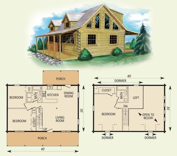 20 x 40 cabin loft joy studio design gallery best design for 2 bedroom log cabin floor plans