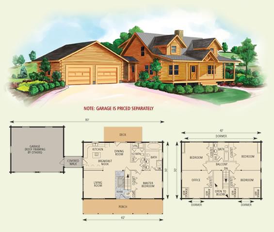 Northridge iii for Cabin floor plans with garage