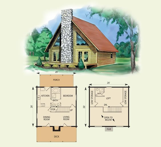 Valleyview - Small house floor plans cottage minimalist ...