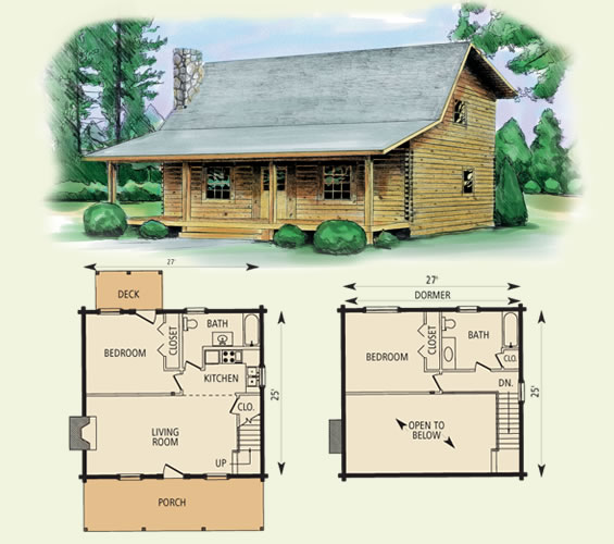 wilderness log home and log cabin floor plan