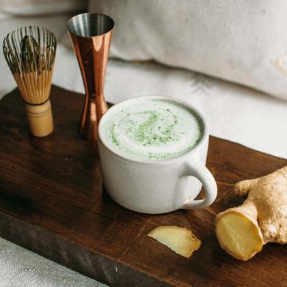 Maple Ginger Matcha Latte
