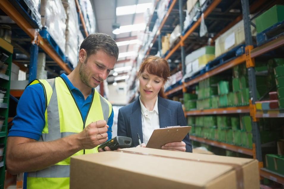 people managing inventory