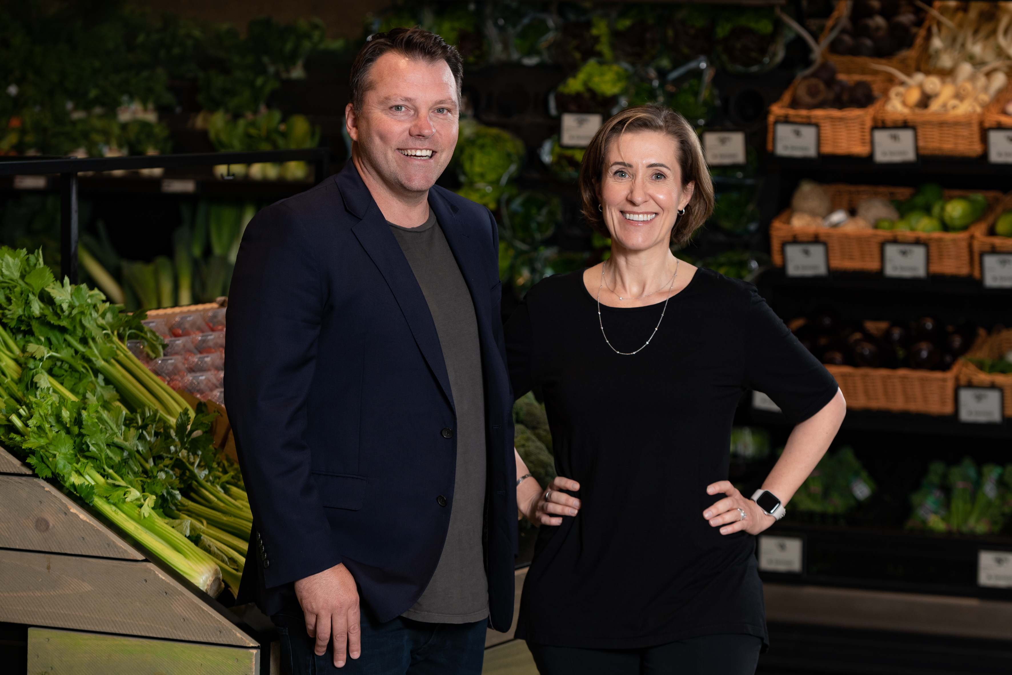 Jason Wyatt and Ingrid Maes in a Wollies Store